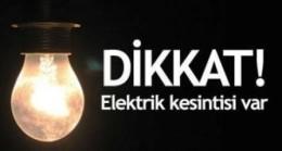 Perşembe Günü Elektrik Kesintisi