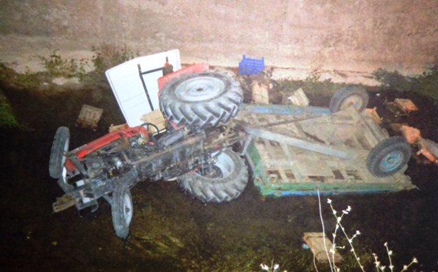 akkuzulu traktor kaza