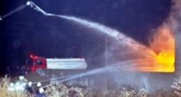 Benzin İstasyonunda Yangın