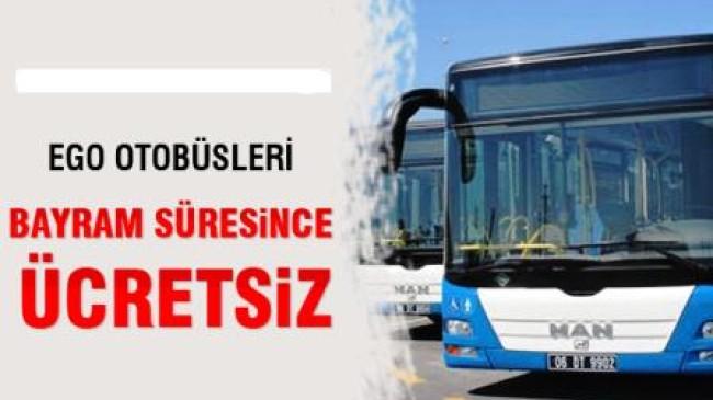 Kurban Bayramında EGO Otobüsleri Bedava