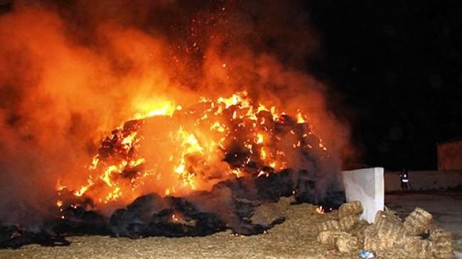 Mahallemizde Samanlık Yangını