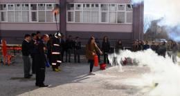 112 Sağlık Öğrencilerine Yangın Tatbikatı