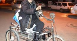 Engelli Cafer Kılınç Eliyle Bisiklet Sürüyor