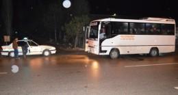 Çubuk'ta Jandarma Otobüsleri Denetledi